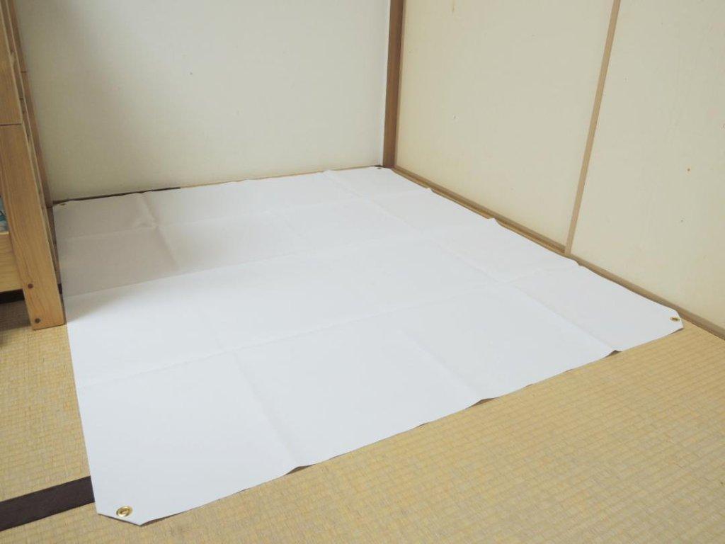 ミドルサイズ作業用防水シート(1560㎜x1370㎜)の画像