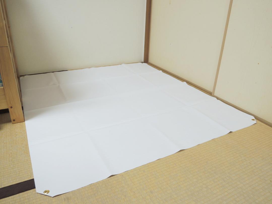ミドルサイズ作業用防水シート(1560㎜x1370㎜)画像