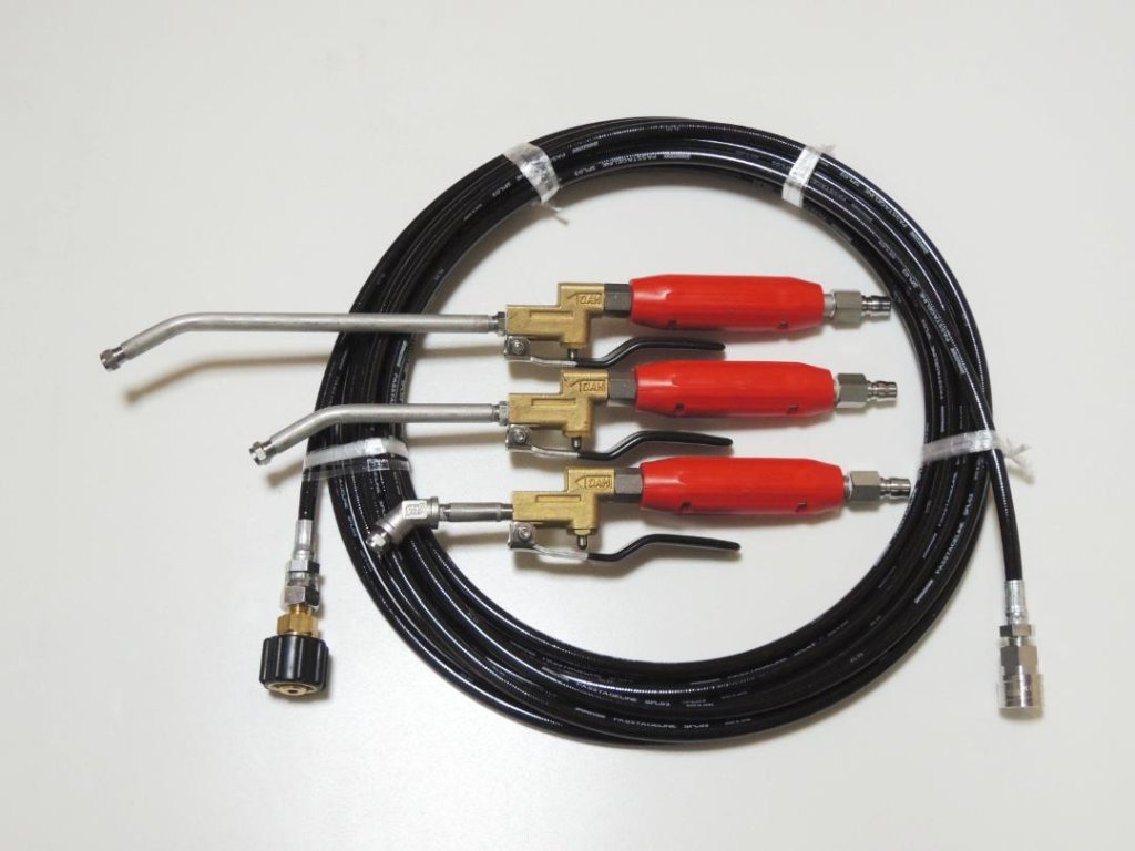 アイリスオーヤマタンク式高圧洗浄機用-【業務用エアコン洗浄高圧ガン】&【高圧スリムウレタンホース10m(クイック接続)】の画像