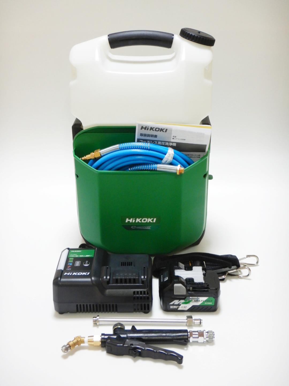 数量限定特価!!ニコニコモデル💝 HiKOKI新型AW18DBL(SA)(XP)  タンク2個&バッテリ-2個モデル~Li-ion18Vバッテリー式コードレスエアコン洗浄機~画像