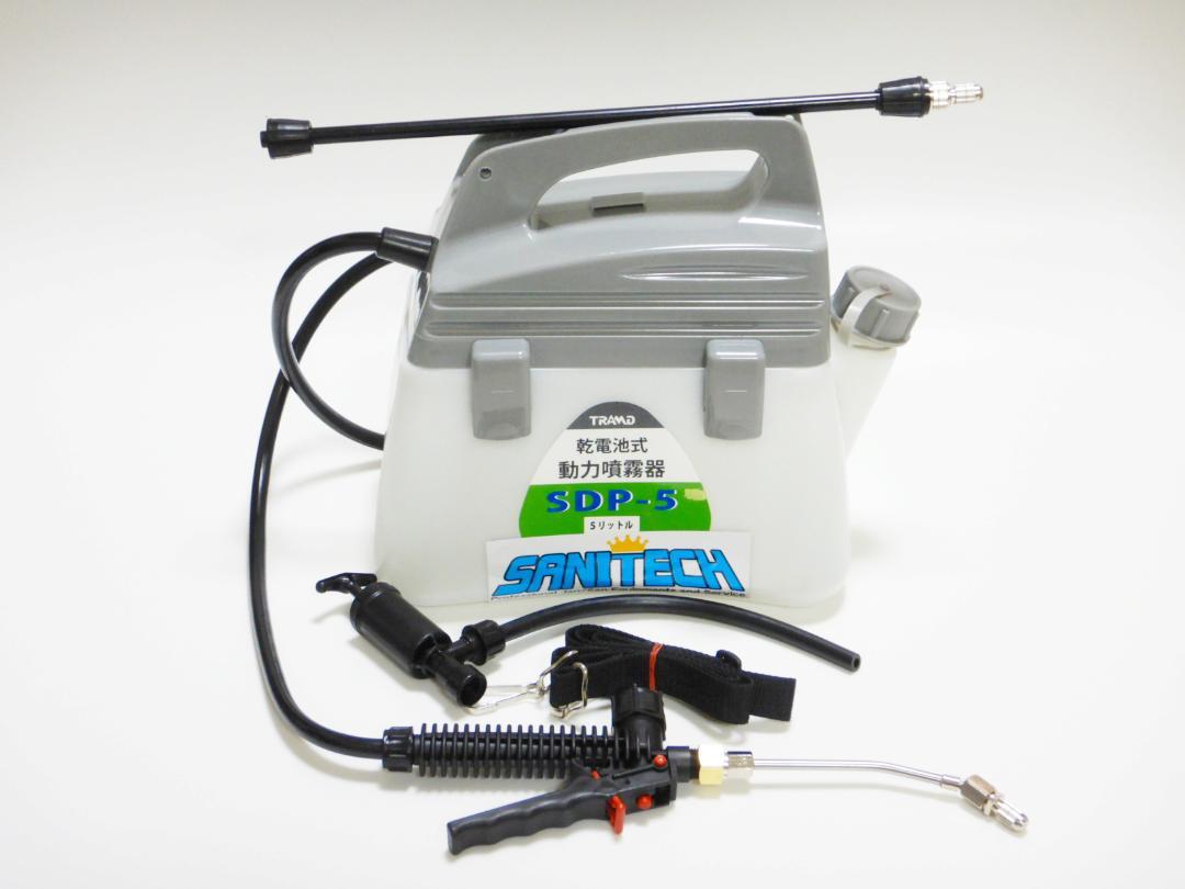 乾電池式ダイヤフラムポンプ採用洗剤スプレーヤー 5Lタンク (エボルタ乾電池・ショートランス付き)画像