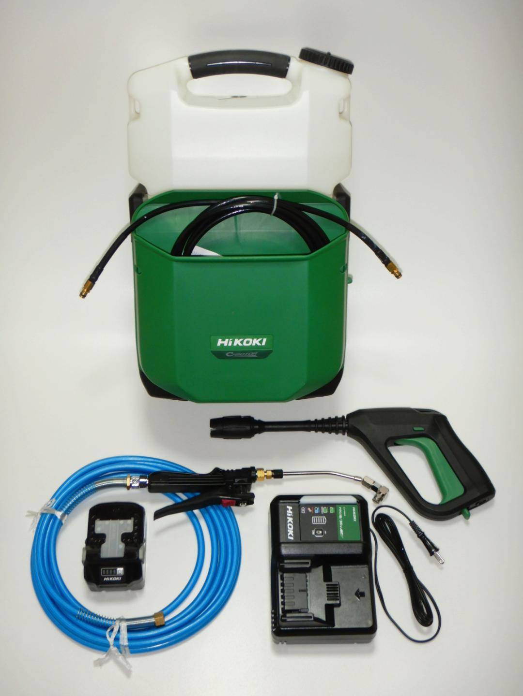 【HiKOKI】18Vコードレス高圧洗浄機AW18DBL(LXP)/(NN) +《 2.2Mpa発揮専用エアコン洗浄用ガン&5mホースのセット》画像
