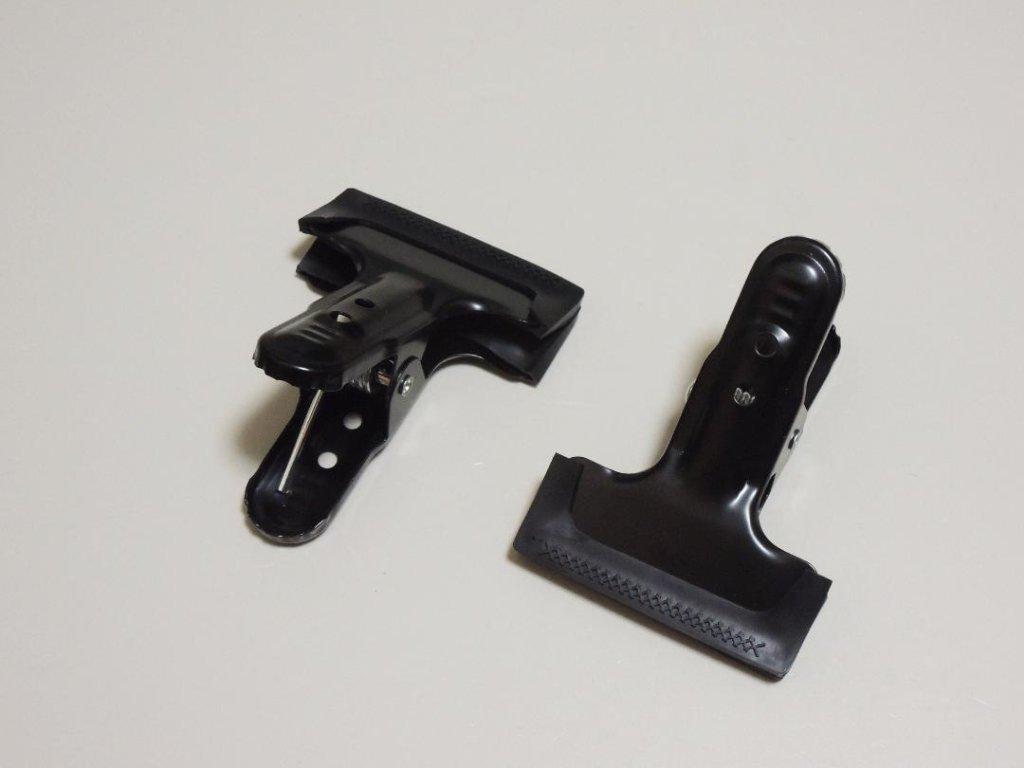 デカクリップ2個セット(ゴムカバー付き)の画像