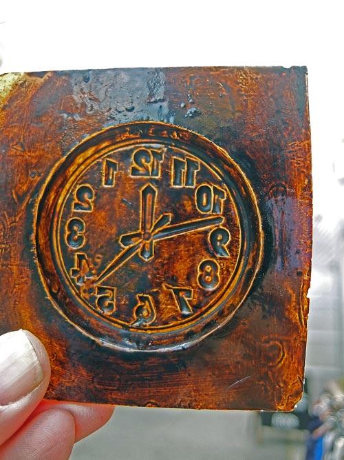 時計文字盤形の型画像