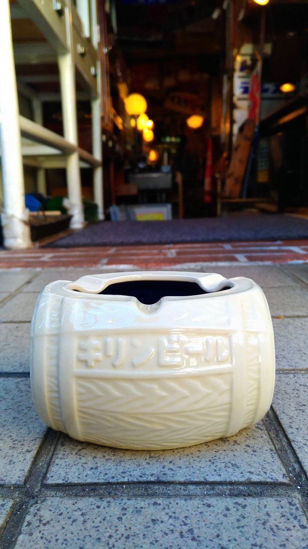 キリン キリンビール、キリンレモン 樽型灰皿画像