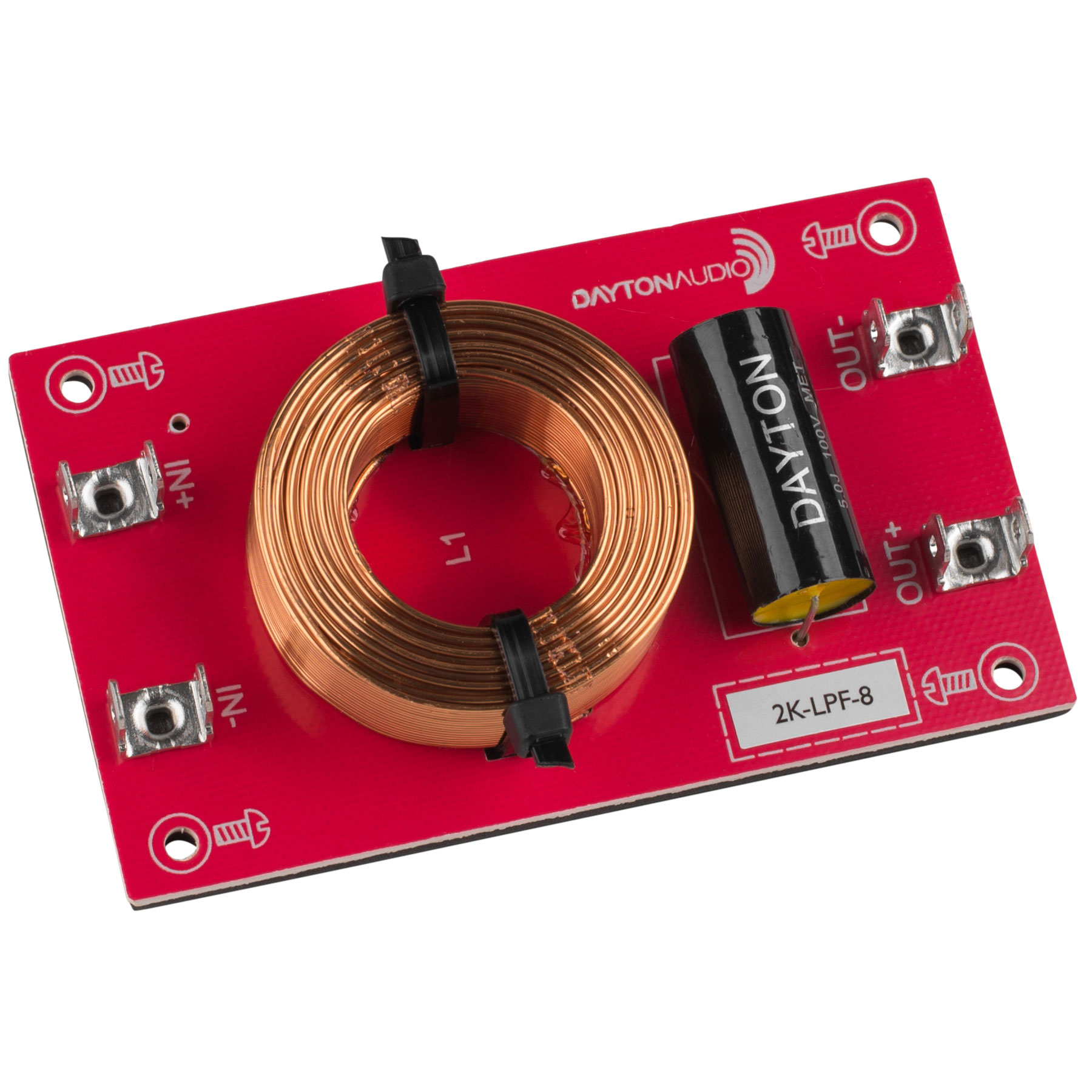 [DLF10]Dayton Audio 2k-LPF-8(2,000 Hz:12 dB/Oct)画像