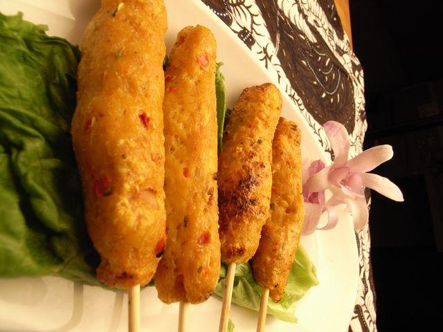 バリ風鶏つくねの串焼き4本セット/Sate lilit Bali 4tusuk 【halal】画像