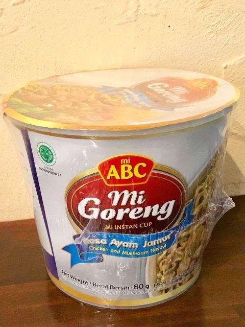 ABCカップヌードルミーゴレンチキンマッシュルーム/ Cup Mi goreng Mi Ayam Jamur*画像