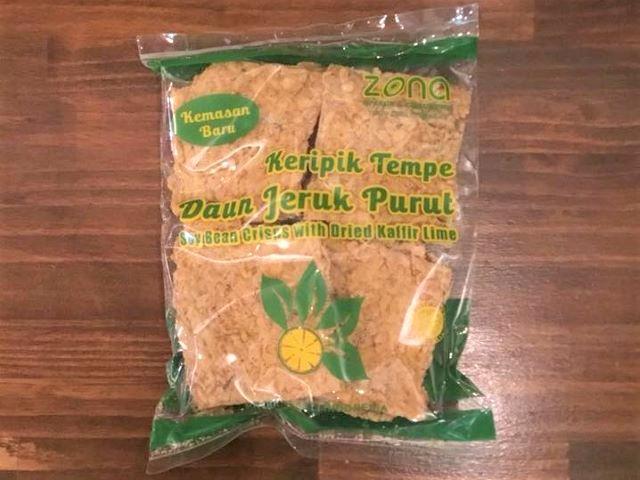 テンペチップス・ライムリーフ200g/ Keripik Tempe Jeruk Purut /Soy Bean Crisps 200g画像