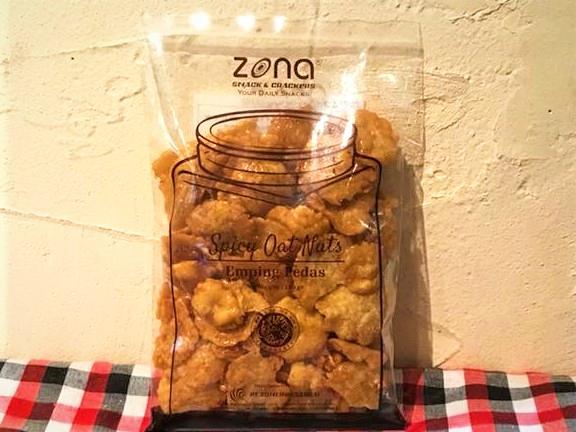 zonaウンピンチップス(辛口) / Emping pedas Spicy Oat Nuts120g画像