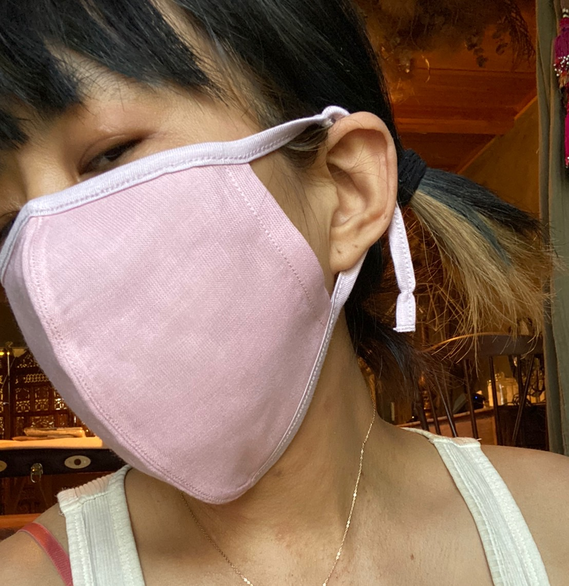 呼吸ができるマスク画像