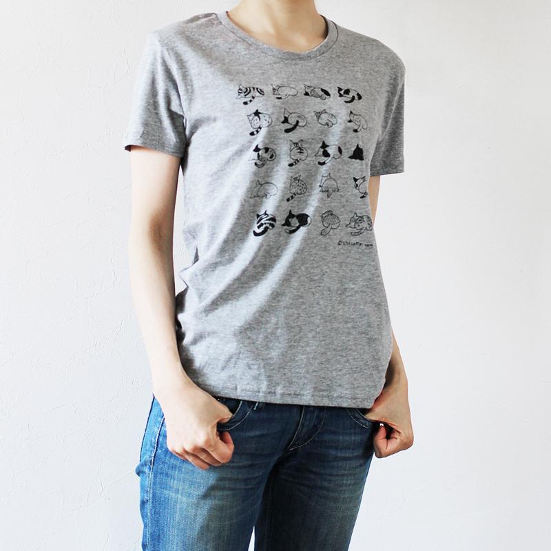 ねこのおしりTシャツ(グレー)の画像