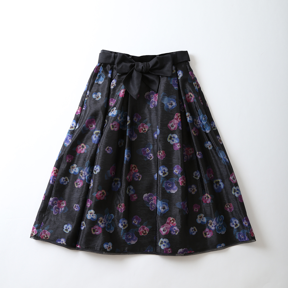 「Viola」lace  tuck & flare skirt画像
