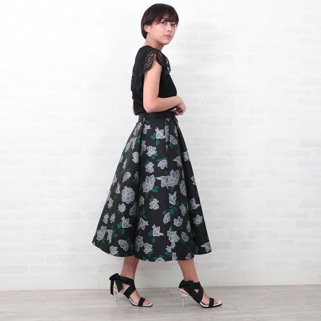 『HYERES Jacquard』Long Skirt MONOTONEの画像