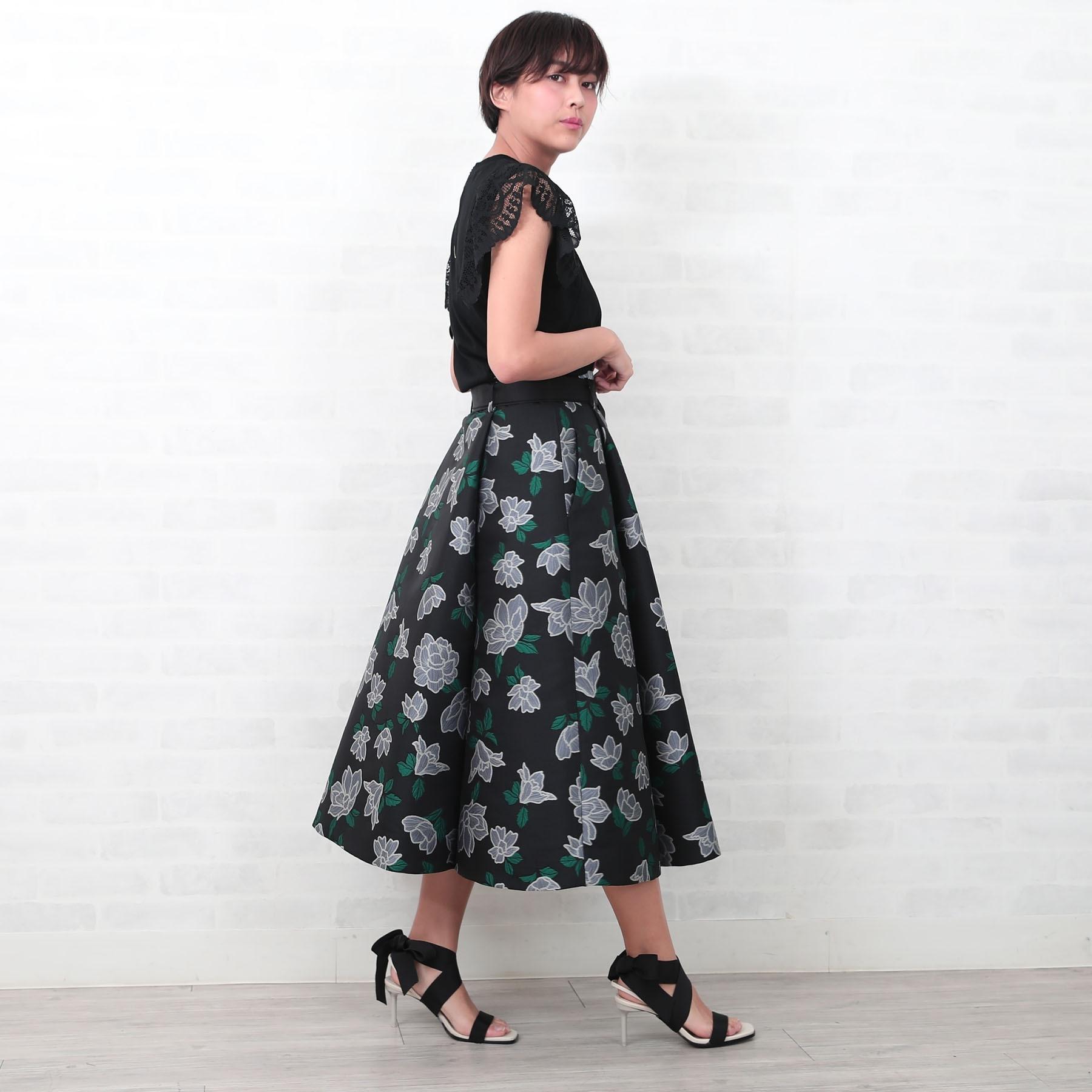 『HYERES Jacquard』Long Skirt MONOTONE画像