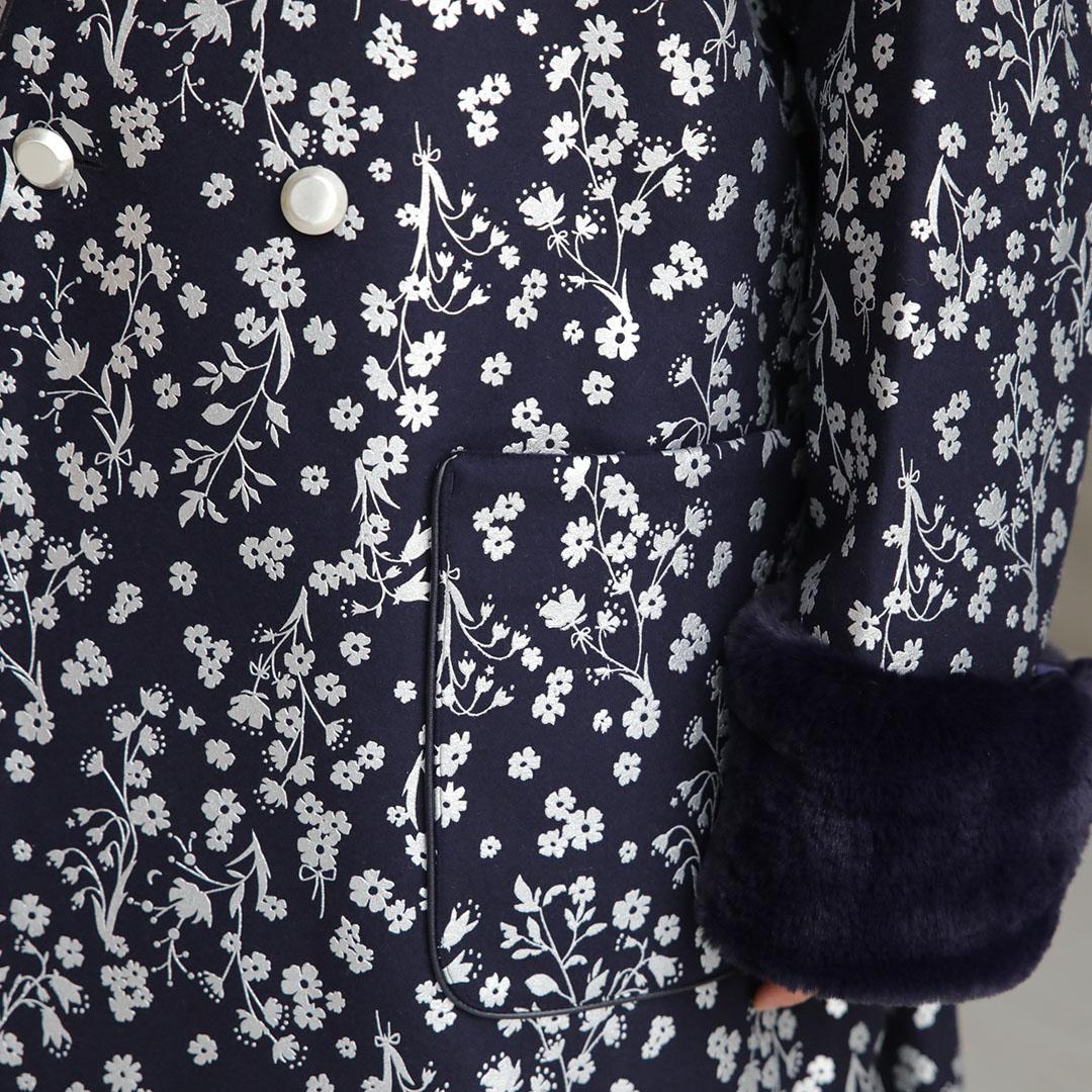 【10月中旬お届け予定】『Frozen flower melton』 Overcoat 【全2色】画像