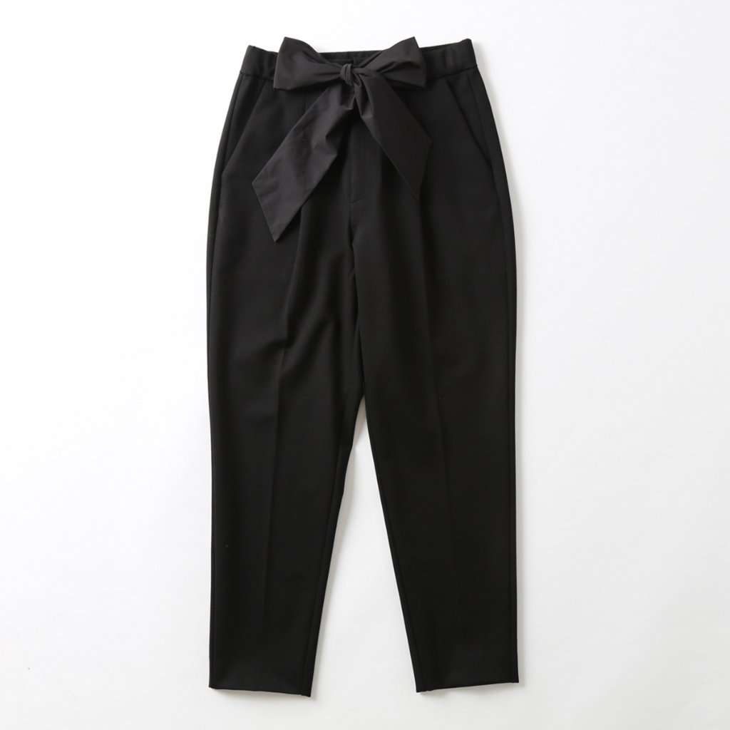 『Dress knit』Tapered Pants BLACKの画像