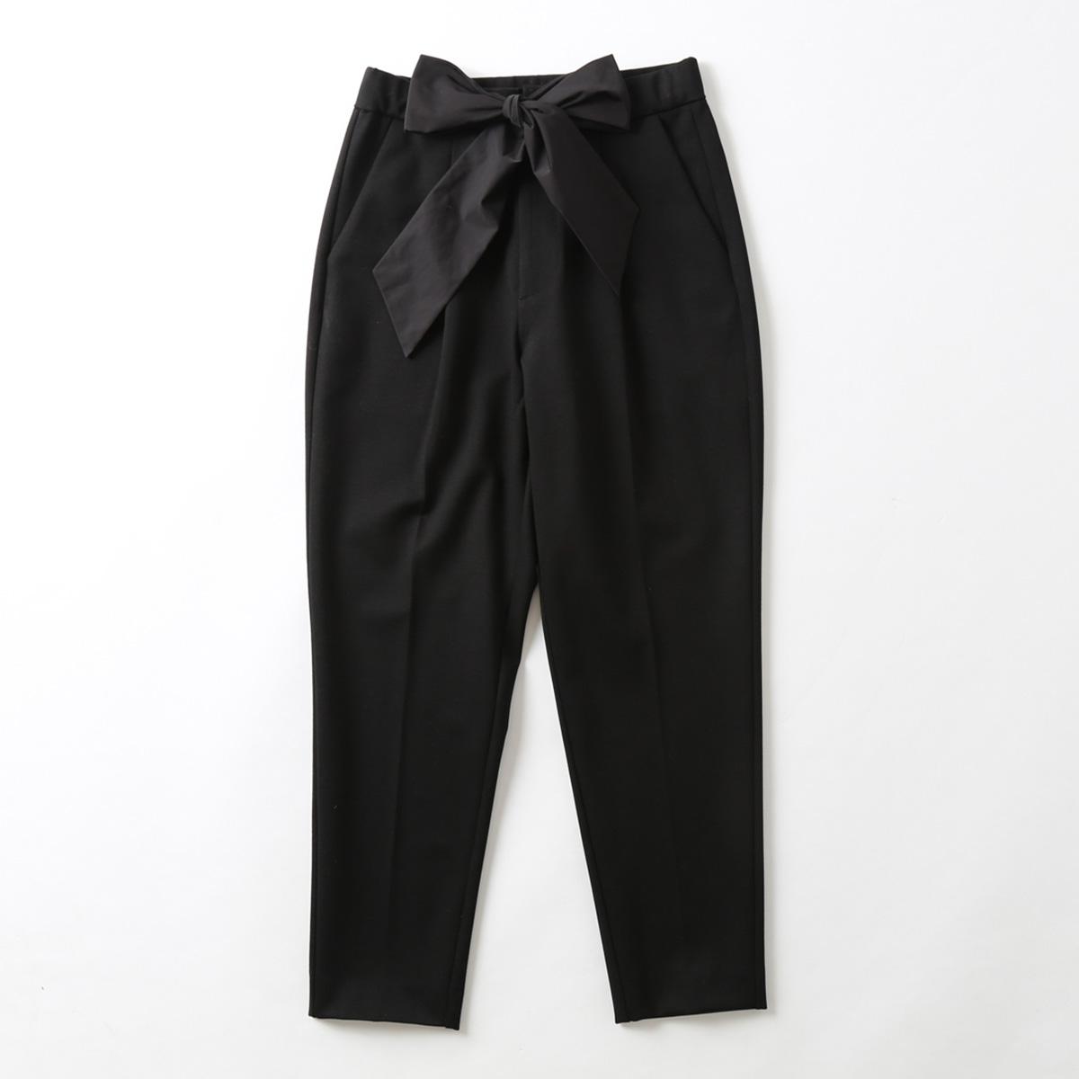 『Dress knit』Tapered Pants BLACK画像