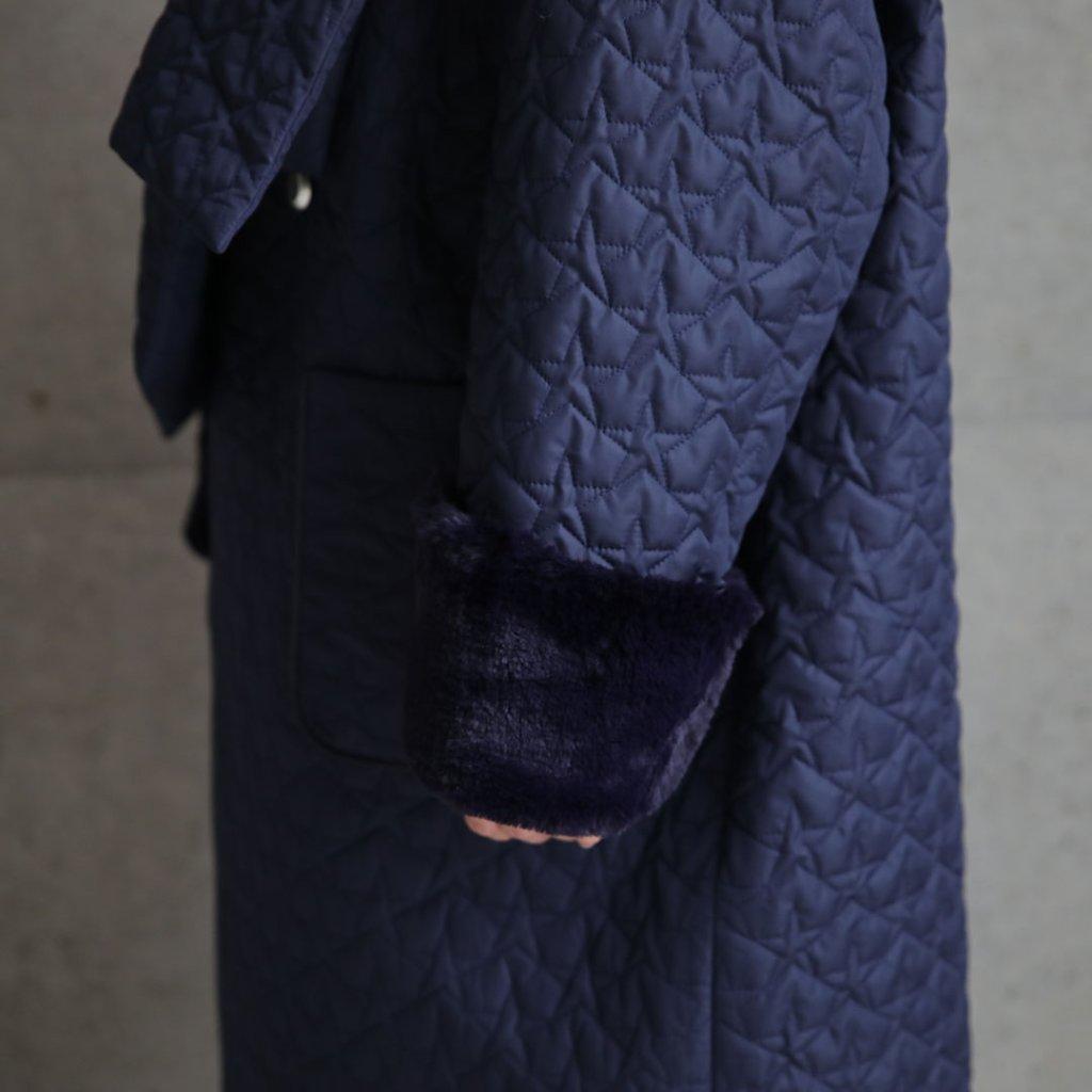 『Stella Quilt』 Overcoat NAVYの画像