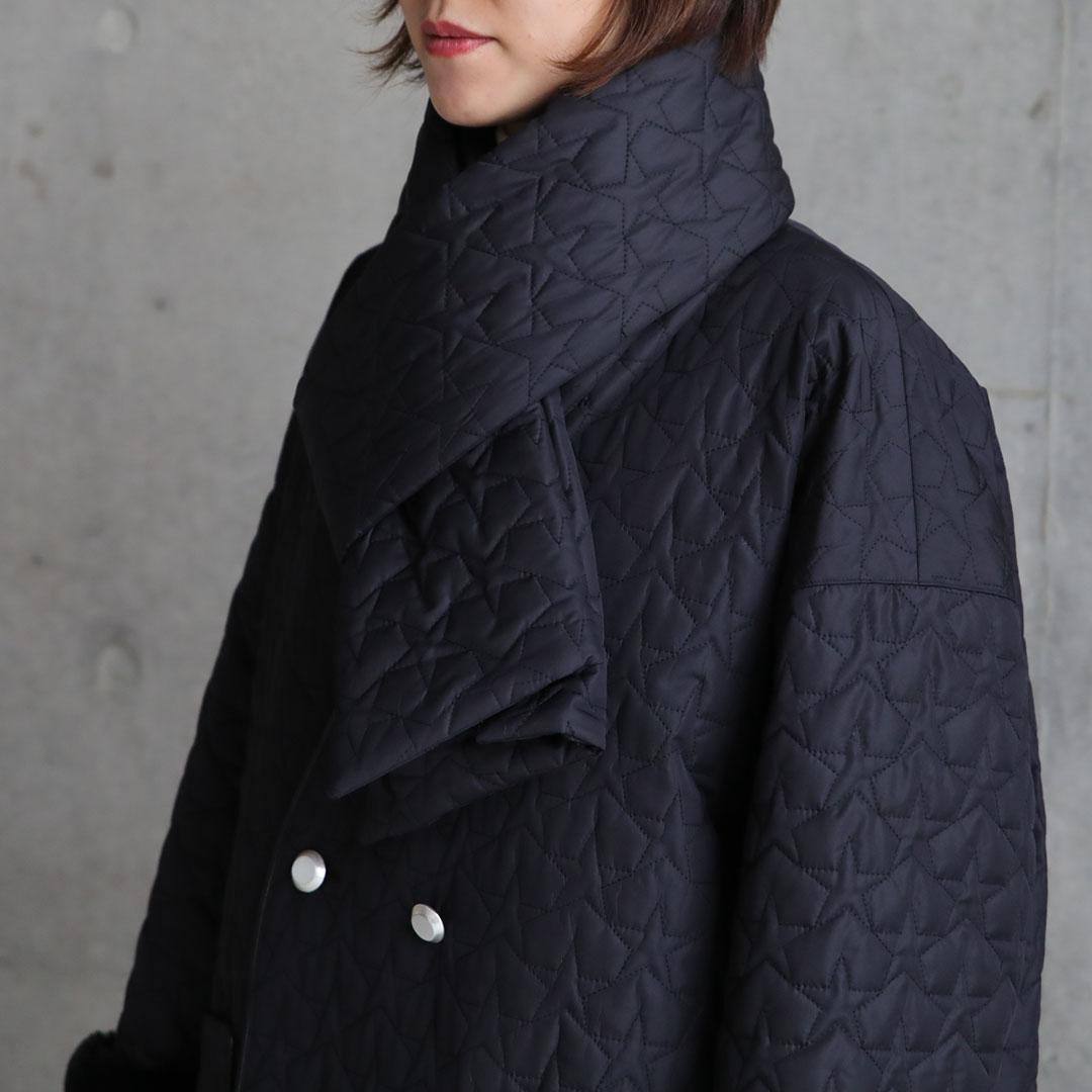 『Stella Quilt』 Overcoat BLACK画像