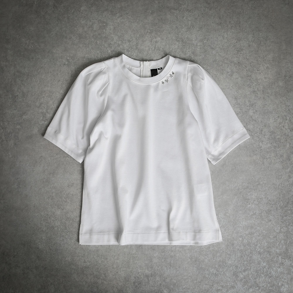 『Suvin Gold』Tack sleeve tee WHITE画像