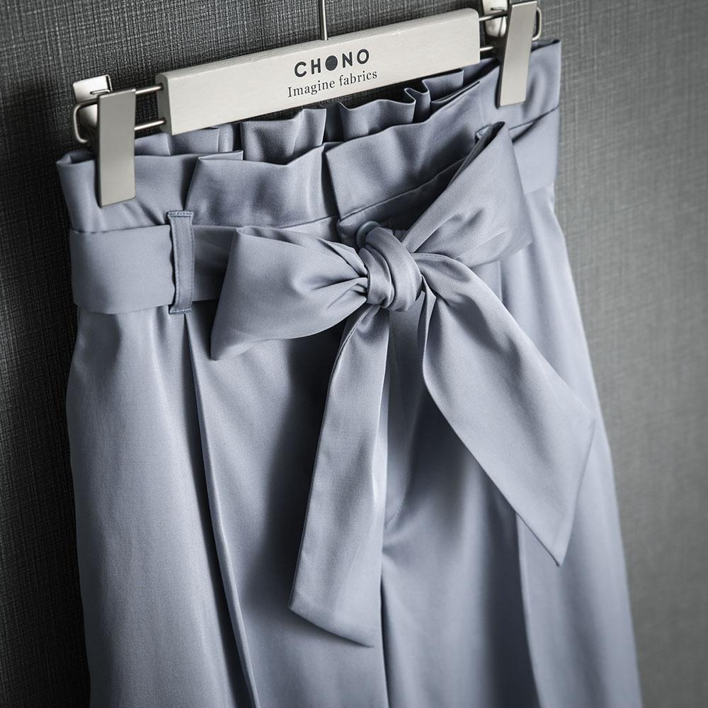 『Stretch jacquard twill』 Wide pants LAVENDER画像