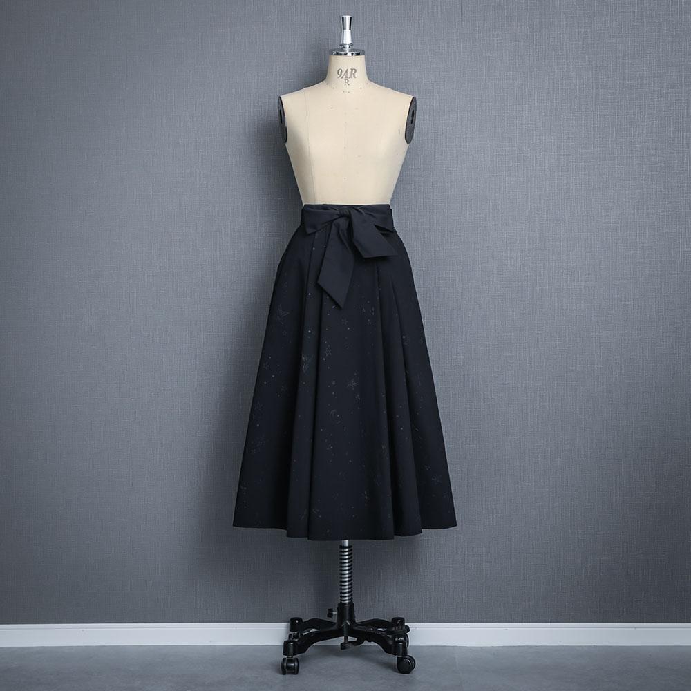 『Stella typewriter』 Long skirt BLACK画像