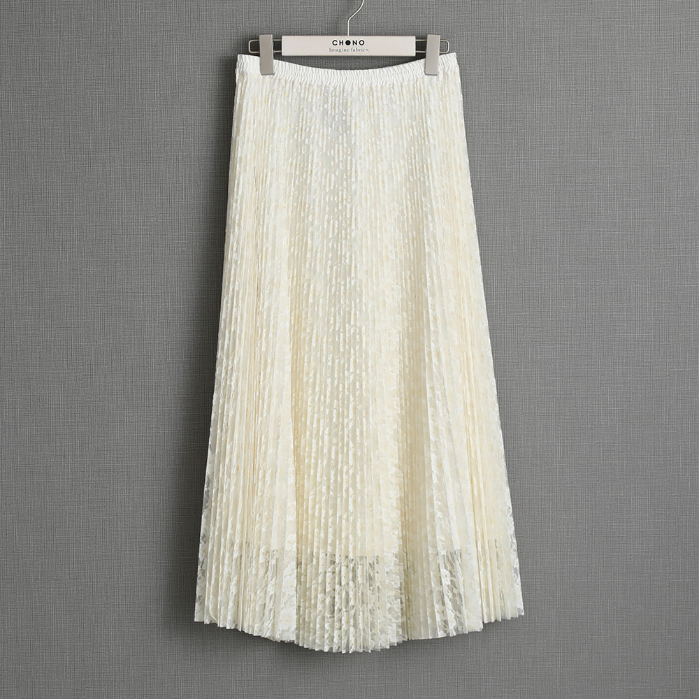 『Botanical lace』 Long skirt ECRU画像