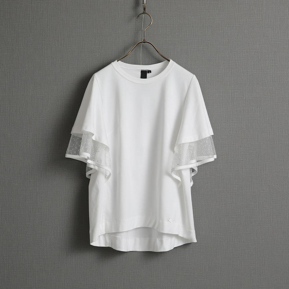 『Whip smooth』flare sleeve tops【5月上旬お届け予定ご受注商品・全3色】画像