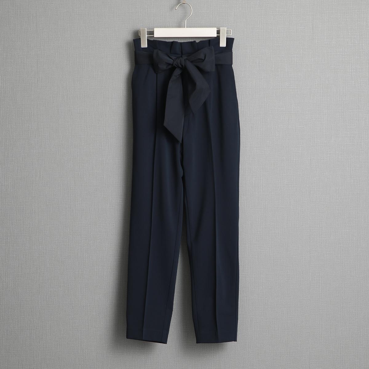 『Dress knit』 tapered Pants BLACK画像