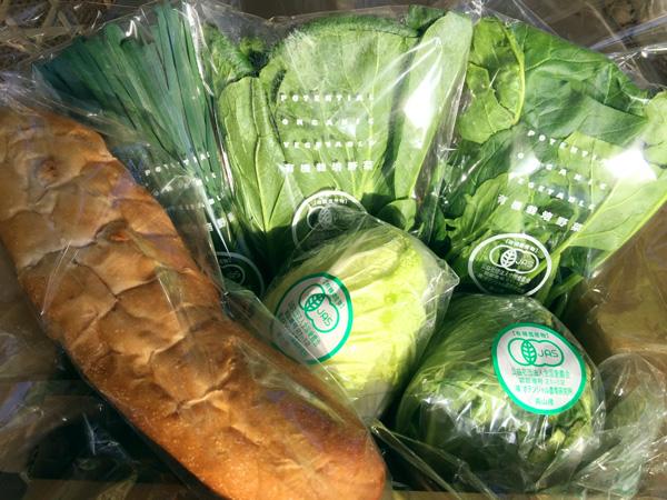 無添加パン付き 小さな野菜セットの画像