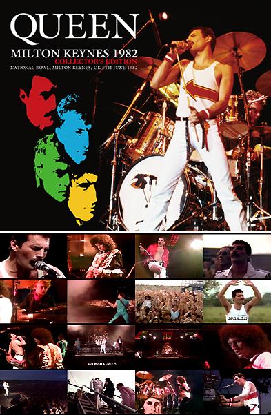 QUEEN - MILTON KEYNES 1982 COLLECTOR'S EDITION(2CDR+DVDR)