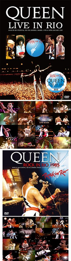"QUEEN - LIVE IN RIO(DVD) plus Bonus 2DVDR ""ROCK IN RIO 1985""* Numbered Stickered Edition Onlyの画像"