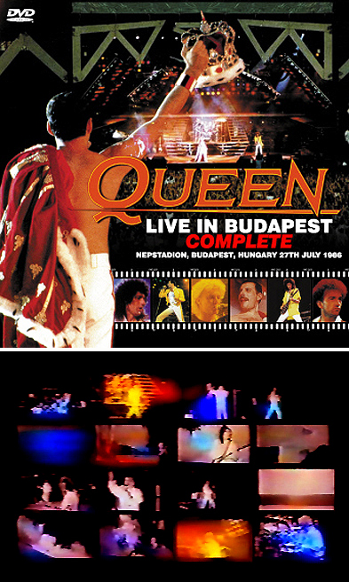 QUEEN - LIVE IN BUDAPEST 1986 COMPLETE(DVDR)の画像