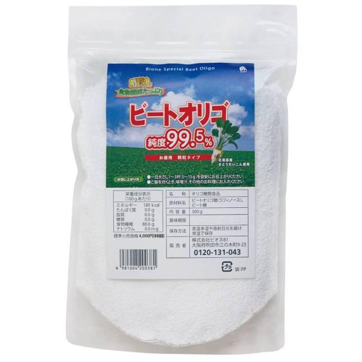 純度99.5%・ビートオリゴ・ラフィノース お徳用顆粒 300g(北海道産)の画像