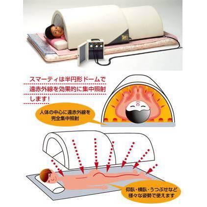 ドーム型遠赤外線サウナ スマーティ F4-A5 スライダー付きの画像
