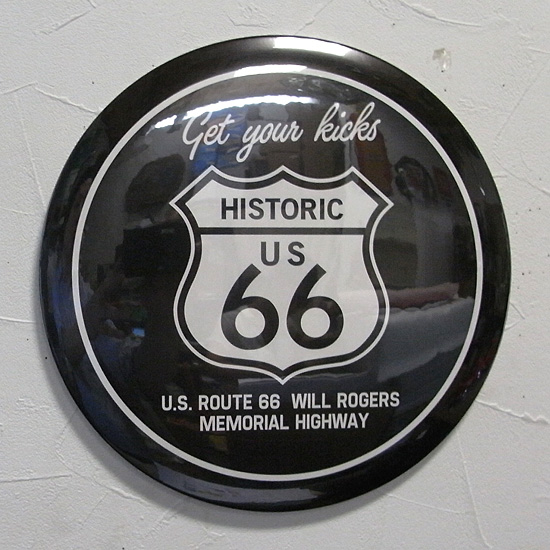 ルート66ティンプレート  ラウンドティンサイン アメリカン雑貨の画像
