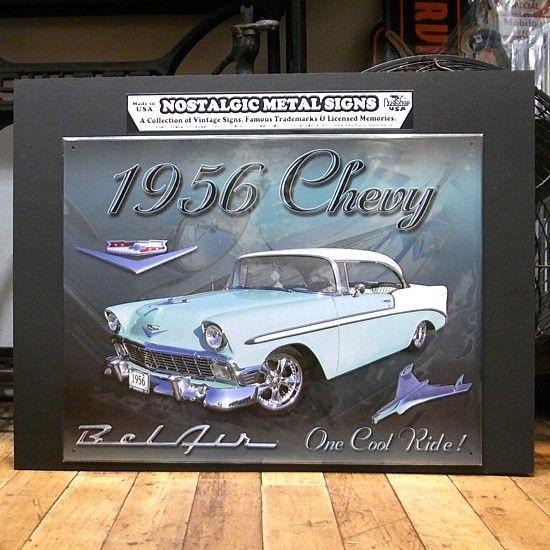 ベルエア1956 ブリキ看板 ティンサイン看板 アメリカン雑貨の画像