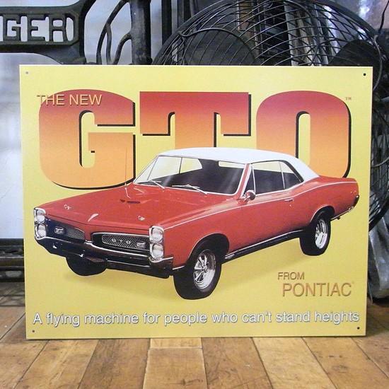 ポンティアック GTO ブリキ看板 ティンサイン看板 アメリカン雑貨画像