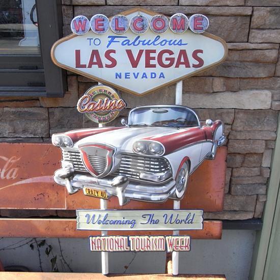 ラスベガス アメリカンスタイル ウォールデコ ブリキ看板 アメリカン雑貨の画像