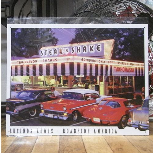 STEAK SHAKE ブリキ看板 ティンサイン看板 アメリカン雑貨の画像