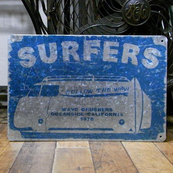 サーファーズ ブリキ看板 ティンサイン アメリカン雑貨の画像