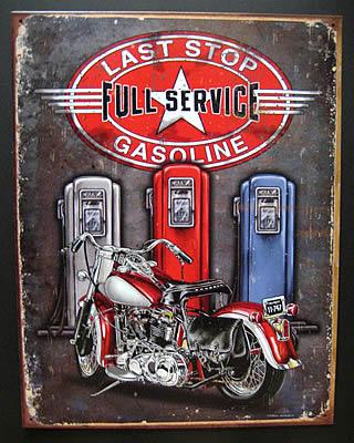フルサービス ブリキ看板 ティンサイン アメリカン雑貨の画像