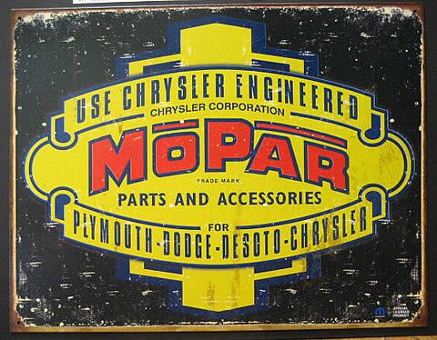 MOPAR ブリキ看板 ティンサイン クライスラー アメリカン雑貨の画像