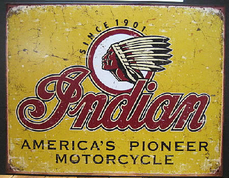 インディアン ブリキ看板 ティンサイン アメリカン雑貨の画像