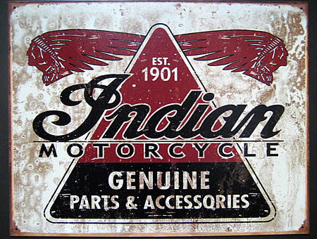 インディアンモーター ブリキ看板 ティンサイン アメリカン雑貨の画像