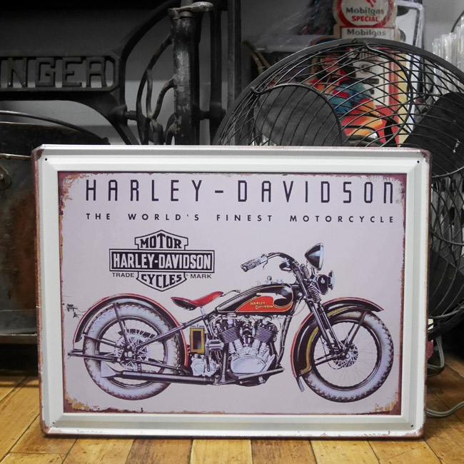 ハーレーダビッドソン ブリキ看板 ティンサイン アメリカン雑貨画像