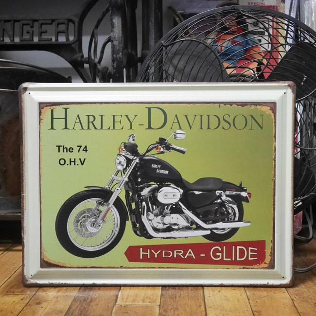 ハーレーダビッドソン ブリキ看板 オートバイティンサイン アメリカン雑貨の画像