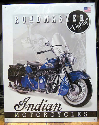 Indian Motorcycles ブリキ看板 ティンサイン アメリカン雑貨の画像