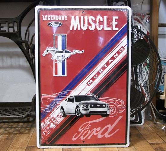 マスタングブリキ看板   ティンサイン アメリカン雑貨の画像